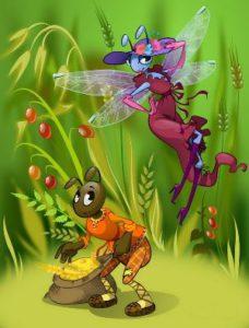 «Стрекоза и муравей»