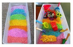 Песок материал для творчества.