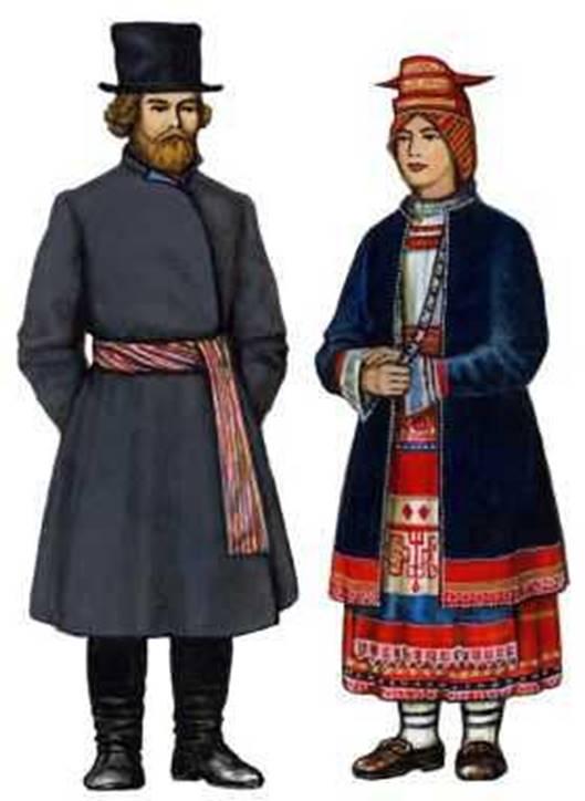 Традиционный  костюм Тульской губернии XIX в.