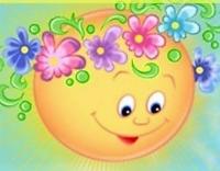 солнышко в цветах
