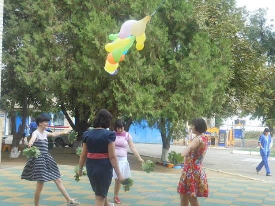 Танец с листьями